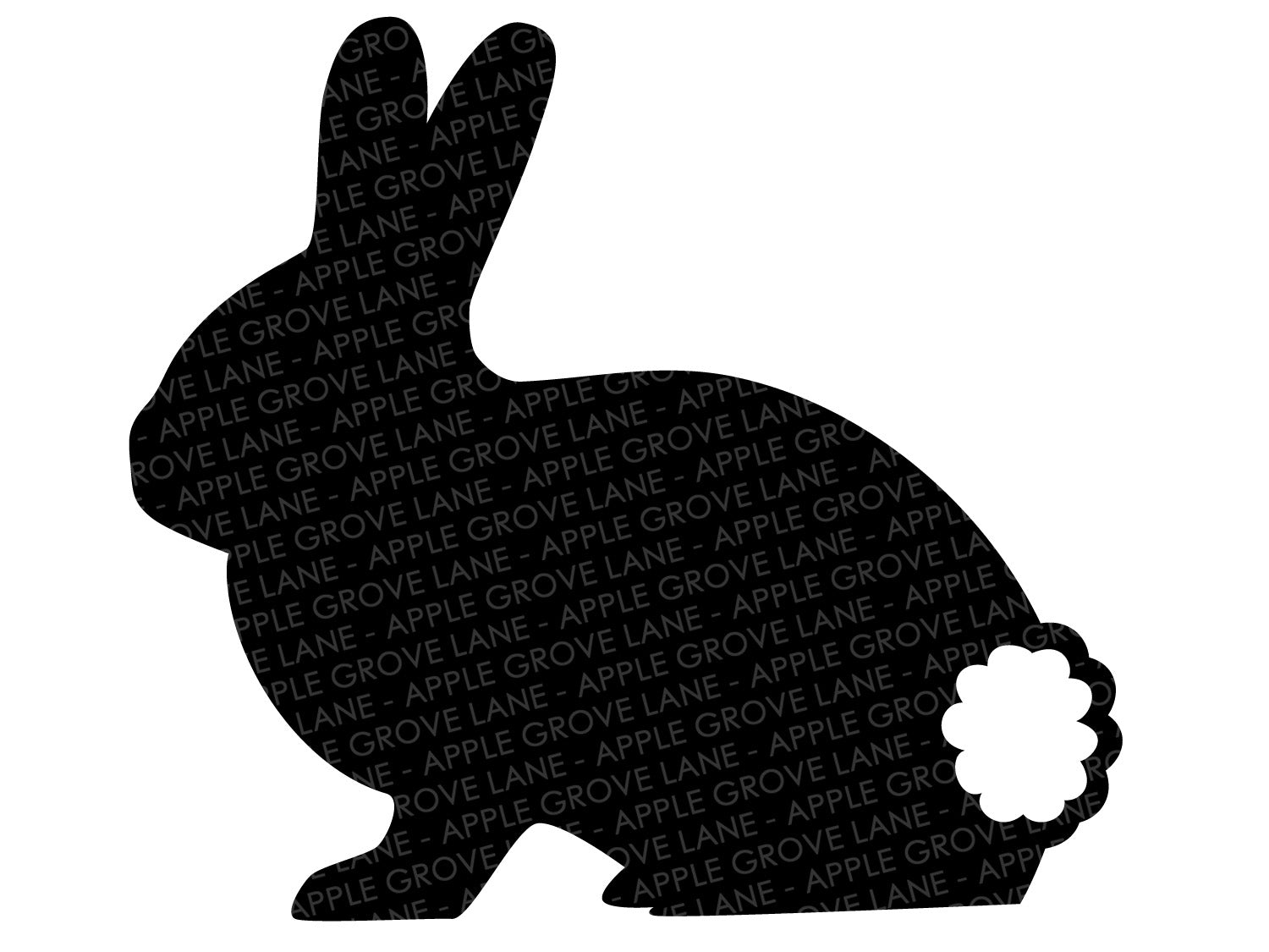 Bunny Outline Svg - Bunny Tail Svg - Easter Svg - Rabbit Svg - Easter Bunny Svg - Spring Svg - Easter Rabbit Svg - Svg Eps Dxf Png