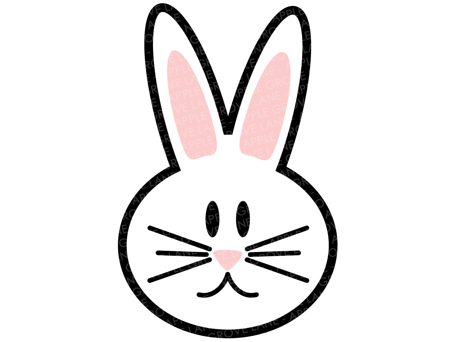 Easter Bunny Svg - Easter Svg - Bunny Svg - Rabbit Svg - Bunny Head Svg - Bunny Outline Svg - Rabbit Face Svg - Spring Svg - Svg Eps Dxf Png