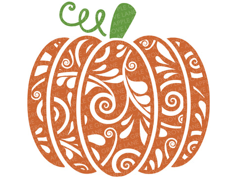 Swirly Pumpkin Svg - Pumpkin SVG - Swirl Pumpkin Clip Art - Halloween Svg - Patterned Pumpkin - Fall SVG - Pumpkin Clipart - Svg Eps Png Dxf