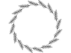 Hand Drawn Wreath SVG - Laurel Wreath Svg - Wreath Svg - Fall Wreath Svg - Wedding SVG - Floral Wreath Clip Art - Svg Eps Png Dxf