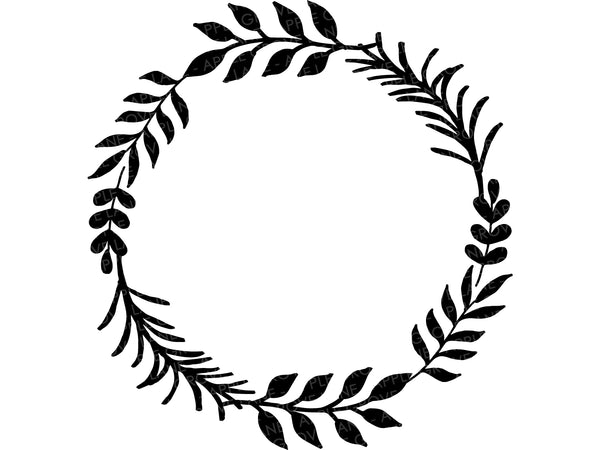 Laurel Wreath SVG Bundle - Floral Wreath Svg - Leaf Wreath Svg - Fall Wreath Svg - Wedding SVG - Flower Wreath Clip Art - Svg Eps Png Dxf