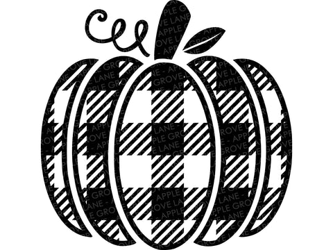 Buffalo Plaid Pumpkin Svg - Pumpkin SVG - Buffalo Check Pumpkin Svg - Halloween Svg - Fall SVG - Pumpkin Patch Clipart - Svg Eps Png Dxf