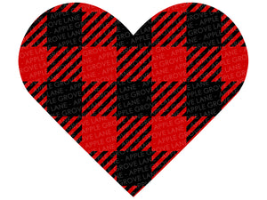 Buffalo Plaid Heart Svg - Valentine Svg - Valentines Day Svg - Valentine Shirt Svg - Buffalo Plaid Svg - Heart SVG - Svg Eps Dxf Png