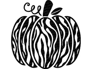 Zebra Pumpkin Svg - Pumpkin SVG - Zebra Print Svg - Halloween Svg - Fall SVG - Animal Print Svg - Zebra Stripes Svg - Svg Eps Png Dxf