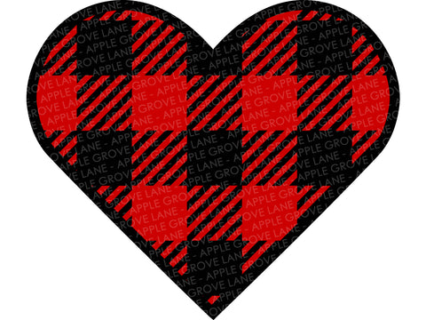 Buffalo Plaid Valentine SVG - Valentines Day Svg - Valentine Svg - Valentine Sign Svg - Buffalo Plaid Heart Svg - Valentine Svg Eps Dxf Png