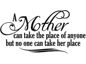 Mother's Place Svg - Mother Svg - Mom Svg - Mothers Day Svg - Gift for Mom - No One Can Take Her Place SVG - Svg Eps Png Dxf