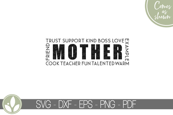 Mother Svg - Mom Svg - Mother's Day Svg - Gift for Mom Svg - Mother's Day Shirt Svg - Grandmother Svg - Mothers Day Card Svg