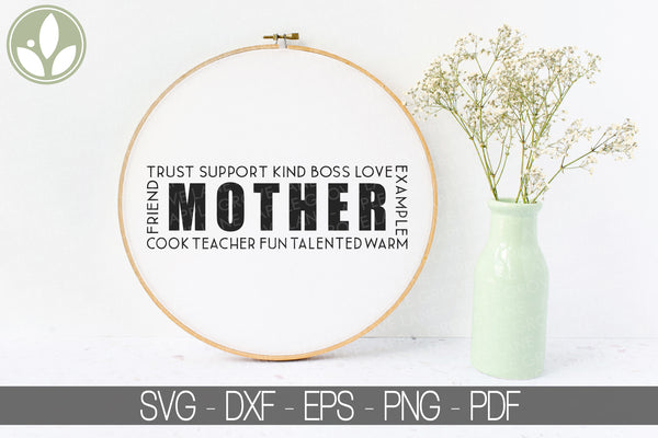 Mother Svg - Mom Svg - Mother's Day Svg - Gift for Mom Svg - Mother's Day Shirt Svg - Grandmother Svg - Mother's Day Gift Svg Eps Png Dxf