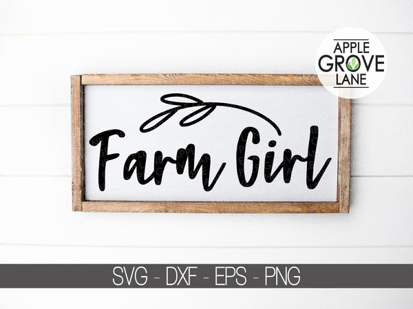 Farm Girl SVG - Farm Svg  - Country Girl SVG - Farmhouse Svg - Farm Life - Country SVG - Farm Girl Clip Art -  Eps Svg Dxf Png
