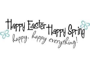 Spring Svg - Easter Svg - Happy Easter Svg - Happy Spring Svg - Butterfly Svg - Svg Eps Dxf Png