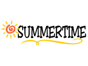 Summertime Svg - Summer Svg - Sun Svg - Beach - Vacation Svg - Summer Sun Svg - Svg Eps Dxf Png