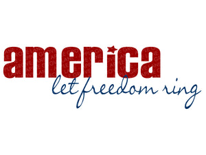 America Svg - Let freedom ring Svg - Patriotic Svg - 4th of July Svg - Freedom Svg - Svg Eps Dxf Png