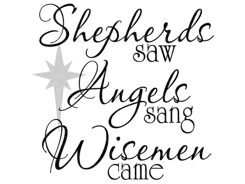 Christmas Svg - Nativity Svg - Shepherds Svg - Wisemen Svg - Holiday Svg - Angels Svg - Svg Eps Png Dxf
