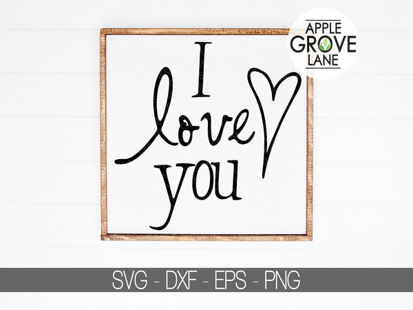 I love you Svg - Valentine's Day Svg - Love Svg - Heart Svg - Wedding Svg - Love You Svg - Svg Eps Dxf Png