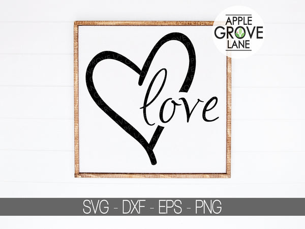 Love Heart Svg - Valentine's Day Svg - Heart Svg - Love Svg - Wedding Svg - Svg Eps Dxf Png