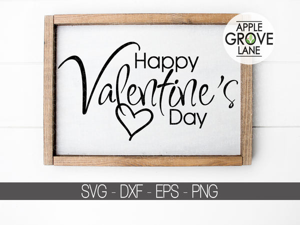 Valentine's Day Svg - Heart Svg - Valentine Shirt Svg - Happy Valentine's Svg - Svg Eps Dxf Png