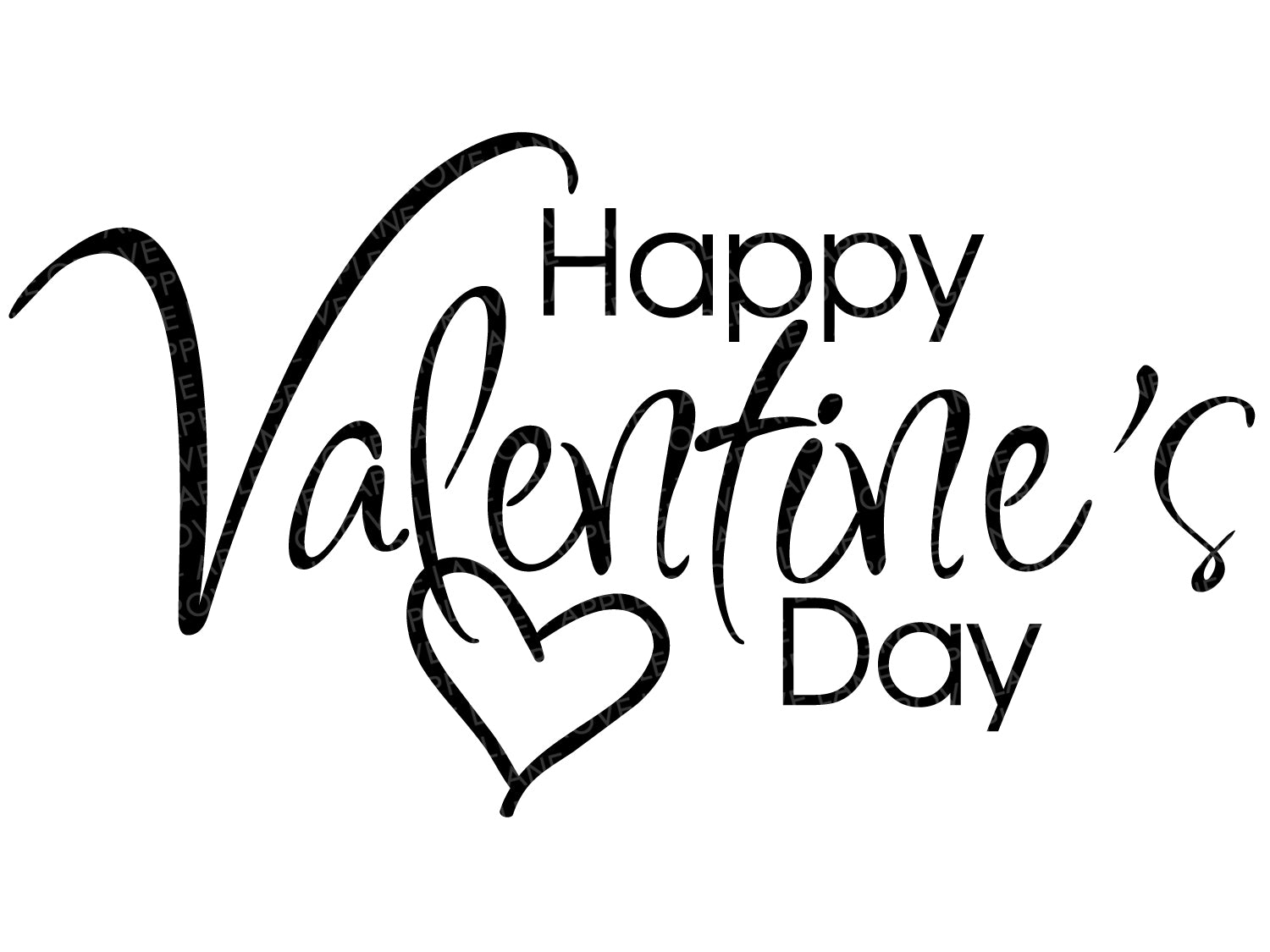 Happy Valentine's Day Svg