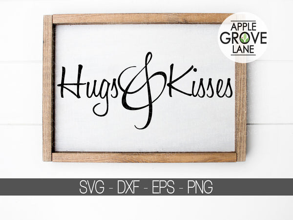 Hugs and Kisses SVG - Valentine's Day Svg - XOXO Svg - Valentine Svg - Happy Valentine's Day Svg - Valentine Shirt Svg - Svg Eps Dxf Png