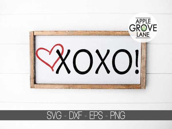 Hugs and Kisses SVG - XOXO Svg - Valentine's Day Svg - Valentine Svg - Valentine Heart Svg - Valentine Shirt Svg - Heart Svg Eps Dxf Png