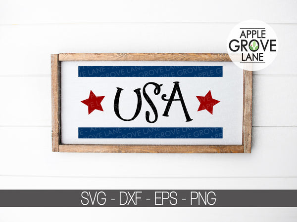USA Flag Svg - America Svg - Americana Svg - Red White Blue Svg - 4th of July Svg - Patriotic Svg - United States Svg - Svg Eps Dxf Png
