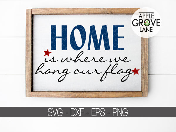 Patriotic Svg - Hang Our Flag Svg - Military Svg - Veteran Svg - Flag Svg - 4th of July Svg - Patriotic Cut File - Svg Eps Dxf Png