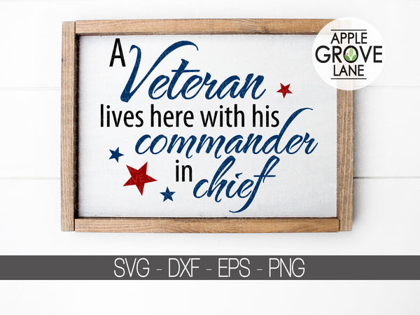 Veteran Lives Here Svg - Veteran Svg - Patriotic Svg - Military SVG - Veterans Day Svg - Military Veteran SVG - Svg Eps Dxf Png