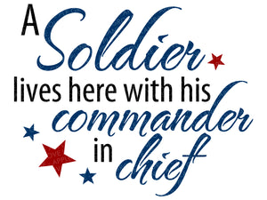 Soldier Lives Here Svg - Commander in Chief Svg - Military Svg - Soldier Svg - Patriotic SVG - Military Family Svg - Svg Eps Dxf Png