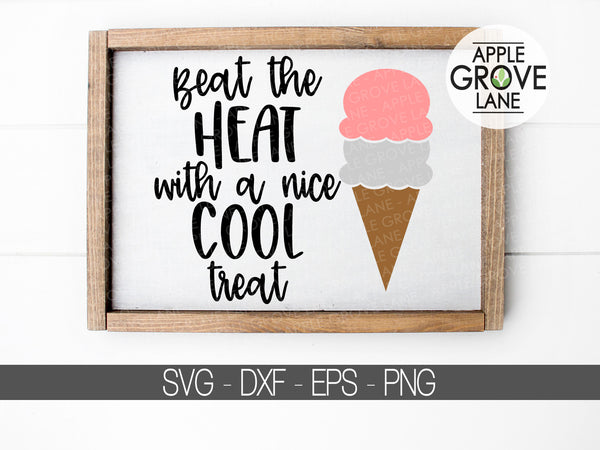 Ice Cream Svg - Ice Cream Cone Svg - Summer Svg - Cool Treats Svg - Ice Cream Shirt Svg - Ice Cream Scoop Svg - Svg Eps Png Dxf
