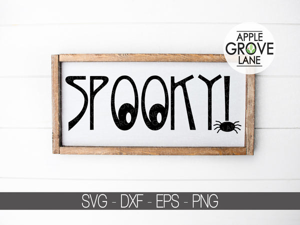 Spooky Svg - Halloween Svg - Fall Svg - Spider Svg - Ghost Svg - Spook Alley Svg - Svg Eps Png Dxf