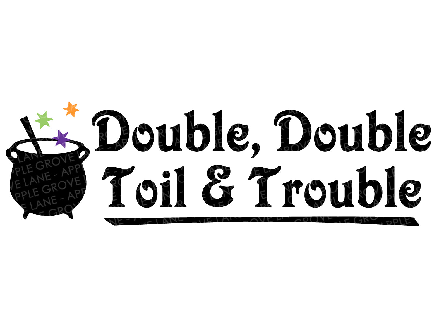 Double Double Svg - Toil and Trouble Svg - Halloween Svg - Witch Svg - Fall Svg - Witch Spell Svg - Svg Eps Png Dxf