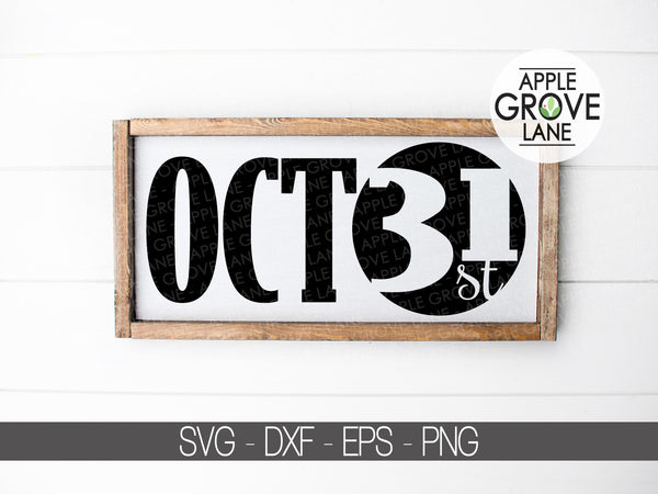 October 31 Svg - Halloween Svg - Fall Svg - Halloween Moon Svg - October Svg - Halloween Sign - Svg Eps Png Dxf