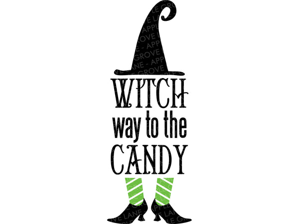 Witch Candy Svg - Halloween Svg - Witch Way Svg - Fall Svg - Witch Svg - Witch Hat Svg - Svg Eps Png Dxf