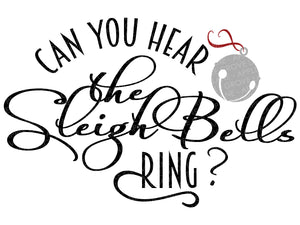 Sleigh Bells Ring SVG - Jingle Bell SVG - Christmas Svg - Santa Sleigh SVG - Sleigh Bell Svg - Sleigh Bell Clip Art - Svg Eps Png Dxf