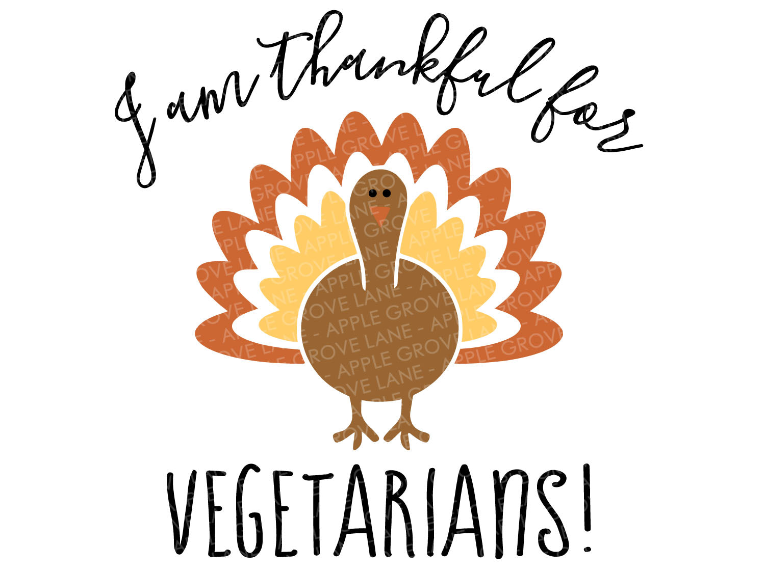 Thankful for Vegetarians Svg - Thanksgiving Svg - Turkey Svg - Thankful Svg - Funny Thanksgiving Svg - Fall Svg - Svg Eps Png Dxf