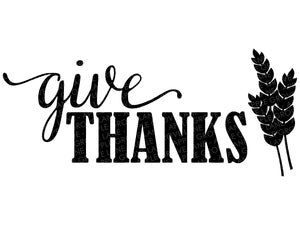 Give Thanks Svg - Fall Svg - Thanksgiving Svg - Autumn Svg - Wheat Svg - Thankful Svg - Svg Eps Png Dxf