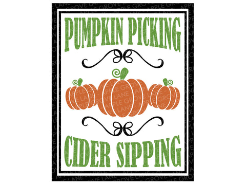Pumpkin Picking Svg - Fall Svg - Thanksgiving Svg - Autumn Svg - Pumpkin Svg - Cider Sipping Svg - Pumpkin Patch Svg - Svg Eps Dxf Png