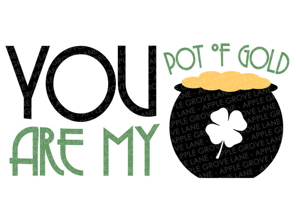 Pot of Gold SVG - St Patrick's Day Svg - Shamrock Svg - Kids St Patricks Svg - St Patricks Shirt Svg - St Patricks Svg - Svg Eps Dxf Png
