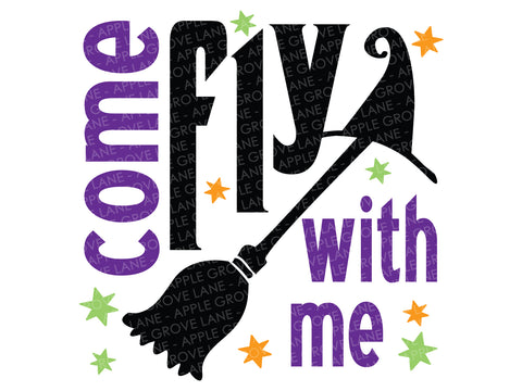 Witch Svg - Halloween Svg - Witch Broom Svg - Come fly with me Svg - Fall Svg - Svg Eps Png Dxf