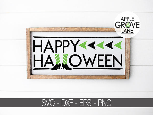 Happy Halloween Svg - Witch Shoes Svg - Fall Svg - Witch Svg - Halloween Svg - Svg Eps Dxf Png