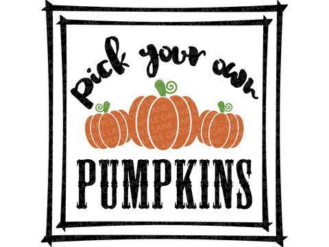 Pick Pumpkins Svg - Fall Svg - Thanksgiving Svg - Autumn Svg - Pumpkins Svg - Pick your own Pumpkins Svg - Svg Eps Dxf Png