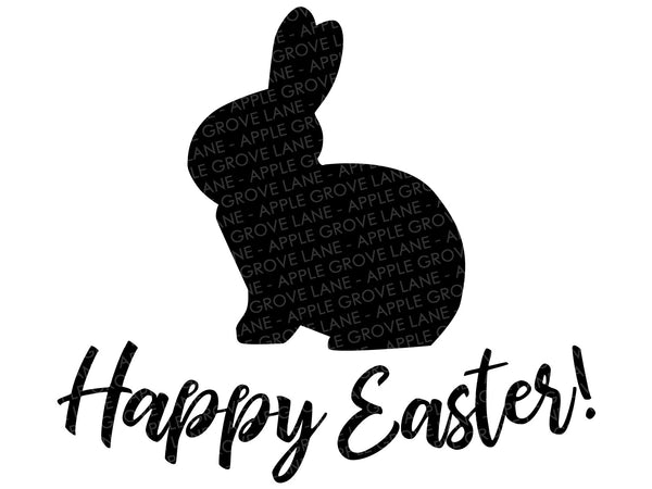 Happy Easter Svg - Easter Svg - Bunny Svg - Easter Bunny Svg - Rabbit Svg - Kids Easter Shirt Svg - Easter Clip Art - Svg Eps Dxf Png