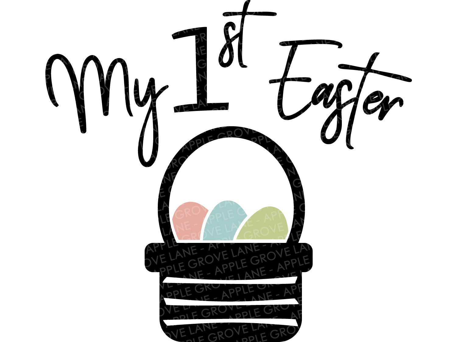 My First Easter SVG - 1st Easter Svg - Kids Spring Shirt - Kids Easter Svg - Easter Basket Svg - Baby Easter Svg - Svg Eps Dxf Png