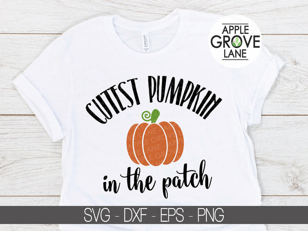 Cutest Pumpkin Svg - Pumpkin Patch Svg - Halloween Svg - Fall Svg - Kids Halloween Svg - Halloween Shirt Svg - Svg Eps Dxf Png