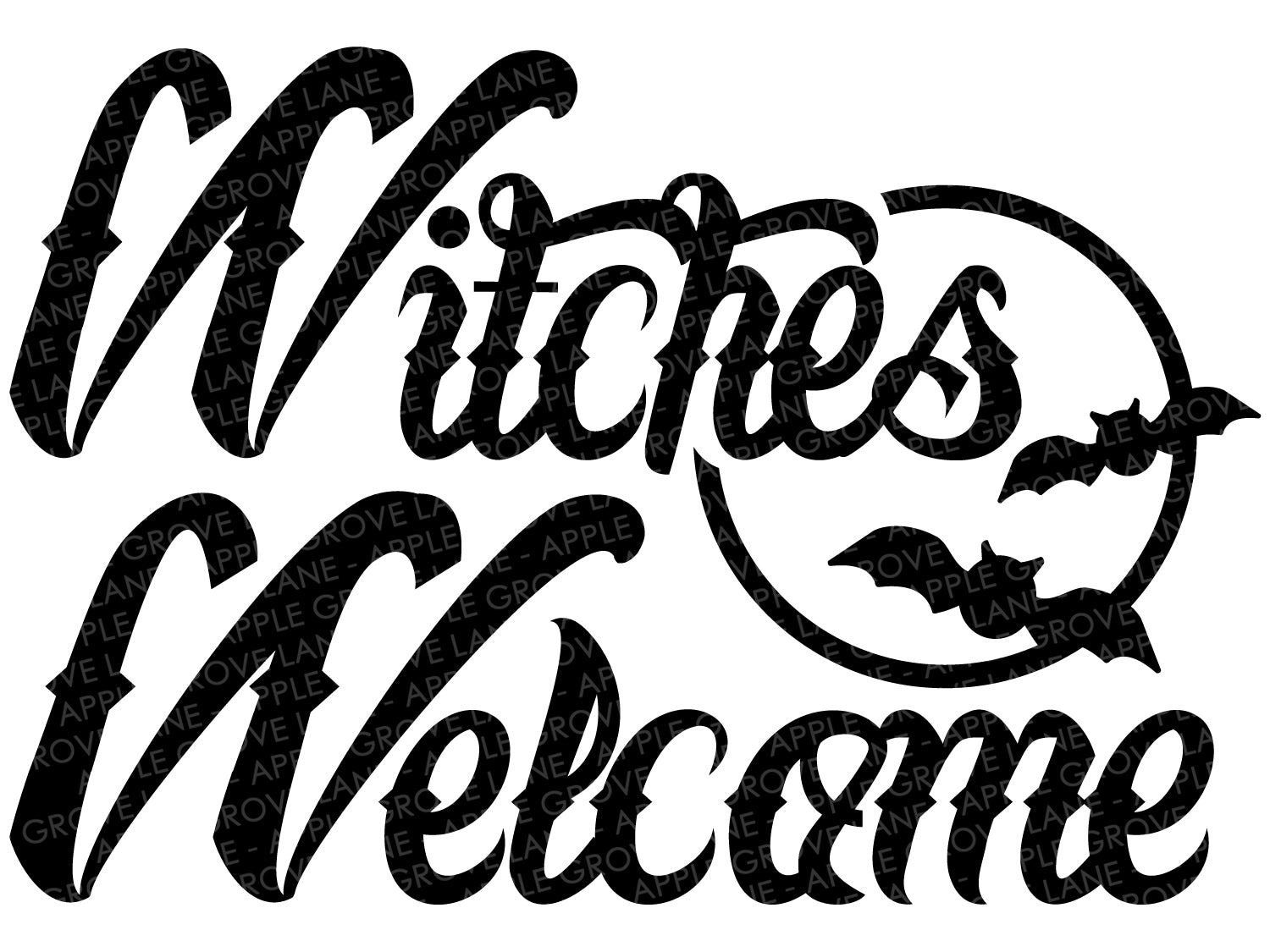 Witches Welcome Svg - Halloween Svg - Fall Svg - Halloween Bats Svg - Halloween Moon Svg - Svg Eps Dxf Png