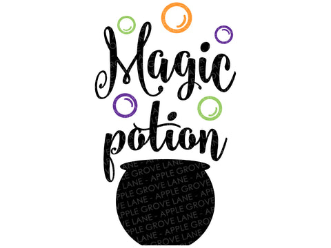 Magic Potion Svg - Halloween Svg - Witch Svg - Fall Svg - Witch Spell Svg - Cauldron Svg - Svg Eps Dxf Png