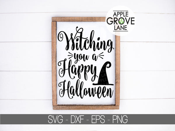 Happy Halloween Svg - Witch Svg - Witch Hat Svg - Fall Svg - Halloween Witch Svg - Svg Eps Dxf Png
