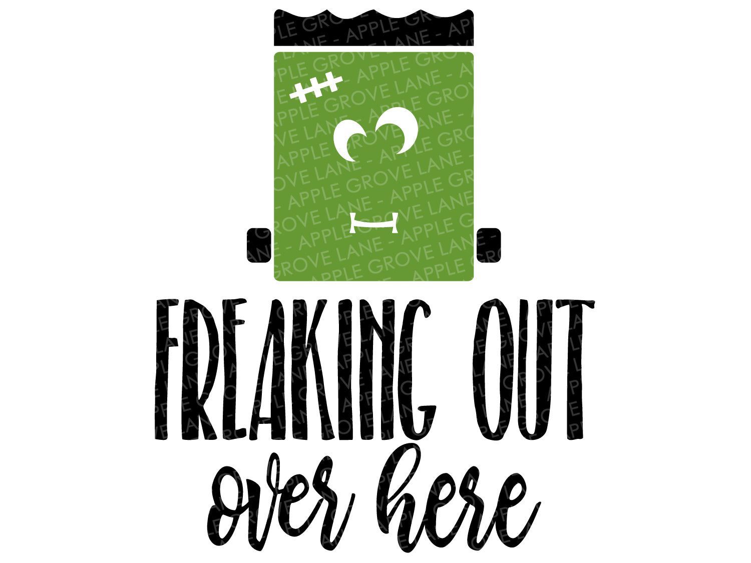 Frankenstein Svg - Halloween SVG - Freaking Out Svg - Monster Svg- Fall Svg - Halloween Monster SVG - Funny Halloween Svg - Svg Eps Dxf Png