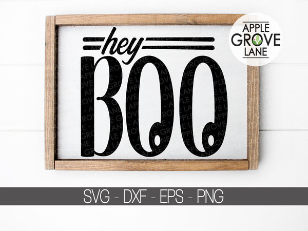 Hey Boo Svg - Halloween Svg - Fall Svg- Ghost Svg - Funny Halloween Svg - Ghost Clip Art - Boo Clipart - Svg Eps Dxf Png