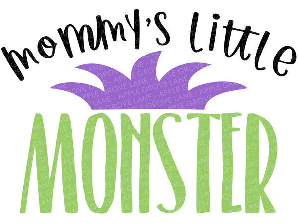 Mommy's Little Monster Svg - Halloween Svg - Fall Svg - Kids Halloween Svg - Monster Svg - Svg Eps Dxf Png