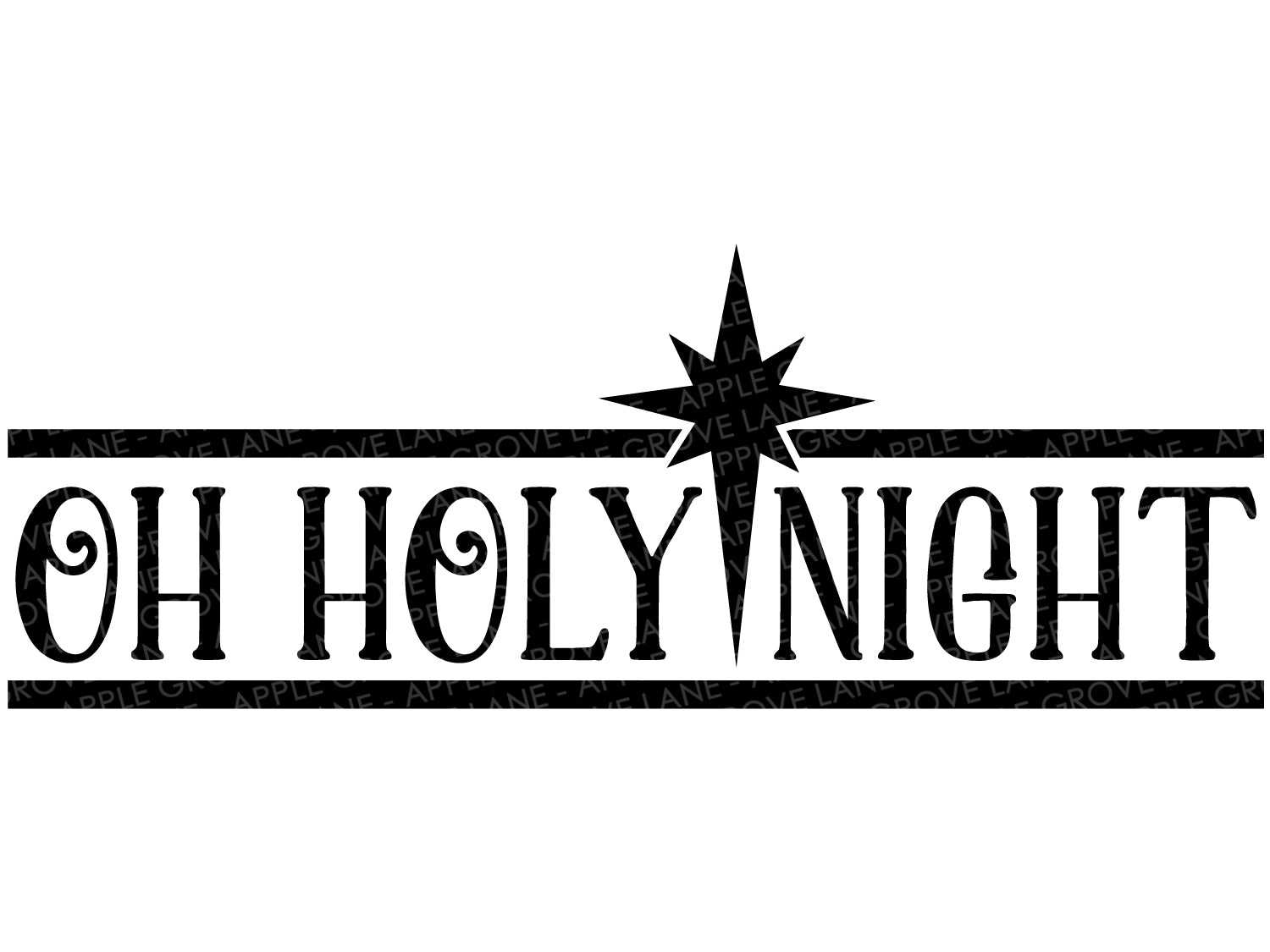 Oh Holy Night Svg - Holy Night Svg - Christmas SVG - Nativity Star Svg - Holy Night Clip Art - Christmas Star Svg - Svg Eps Dxf Png